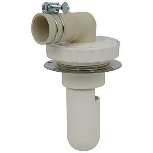 カクダイ 洗濯機用 排水トラップ におい防止 床直接取り付け 呼50VU管用 ステンレスプレート付 通気弁付 426-002|brainpower