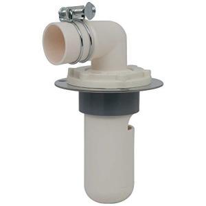 カクダイ 洗濯機用 排水トラップ におい防止 床直接取り付け 呼50VU管用 ステンレスプレート付 426-001-50|brainpower