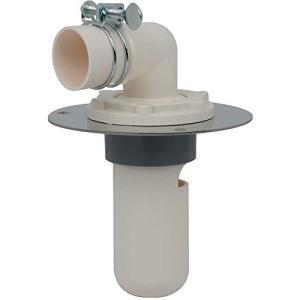 カクダイ 洗濯機用 排水トラップ におい防止 床直接取り付け 呼50VU管用 幅広ステンレスプレート付 426-010-50|brainpower