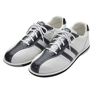 (ABS) ボウリングシューズ S-380 ホワイト・ブラック 25cm 右投げ 【ボウリング用品 靴】|brainpower