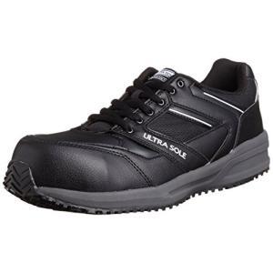 [[マルゴ] MARUGO] 安全靴 作業靴 樹脂製先芯 耐油 耐滑 踵衝撃吸収 JSAA A種 4E ウルトラソール 101 ブラック/グレー 27|brainpower