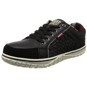 [AITOZ]アイトス 51701_010 23cm セーフティシューズ 作業靴 鋼製先芯 反射材 クッション 3E ブラック|brainpower