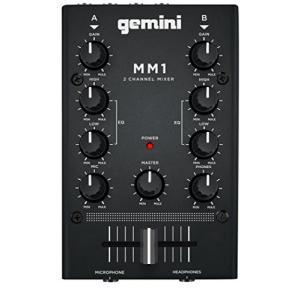GEMINI DJ ミキサー ポータブル 2ch ステレオミキサー MM1|brainpower