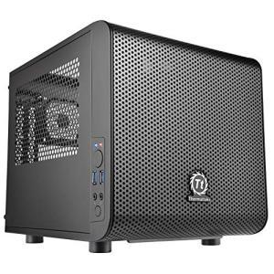Thermaltake Core V1 Mini-ITX対応キューブPCケース CS4872 CA-1B8-00S1WN-00|brainpower