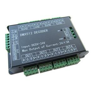 高パワー 24チャンネルRGB 24CH 3A/CH DMX512コントローラー制御デコーダー調光器500Hzチラつきスムーズな調光DMXシグナル・イ|brainpower