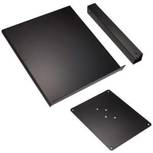 キクタニ CDJスタンド 天板面積:355mm×320mm 高さ:最大415mm 耐荷重10Kg DJ-CDL ブラック|brainpower