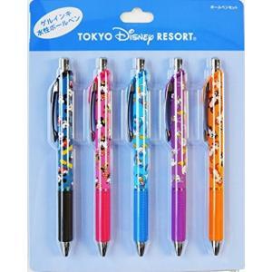 ミッキー ミニー ドナルド デイジー チップ と デール 水性 ボールペン 5本 セット (キャラクター柄) ( ディズニーリゾート限定 )|brainpower