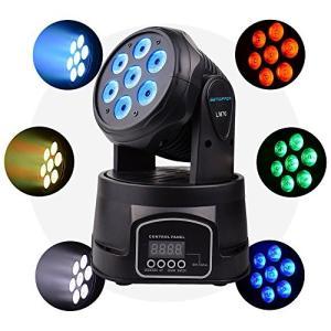 BETOPPER ステージライト 舞台照明 LED 回転 ミニムービングヘッド DMX512 RGBW 7x8W 9/14 チャンネル 照明ライト ム|brainpower