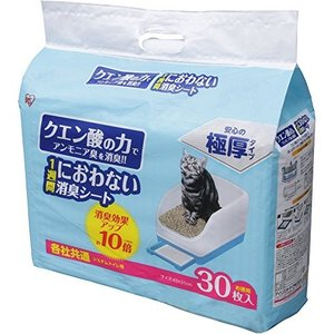 アイリスオーヤマ システムトイレ用 1週間におわない脱臭シート クエン酸入 30枚入|brainpower