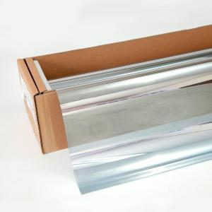 窓ガラスフィルム ミラーフィルム スパッタシルバー35(マジックミラー) 50cm幅×30mロール箱売|braintec