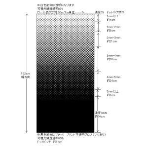窓ガラスフィルム デザインシート グラデーション・ブラック 1.5m幅×1m単位切売|braintec|02