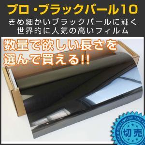 スモークフィルム カーフィルム プロ・ブラックパール10(10%) 1m幅×長さ1m単位切売|braintec
