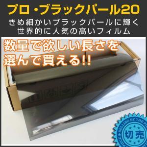 スモークフィルム カーフィルム プロ・ブラックパール20(18%) 50cm幅×長さ1m単位切売|braintec