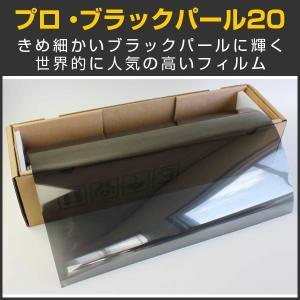 スモークフィルム カーフィルム プロ・ブラックパール20(18%) 1m幅×30mロール箱売|braintec