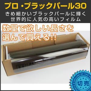 スモークフィルム カーフィルム プロ・ブラックパール30(32%) 50cm幅×長さ1m単位切売|braintec
