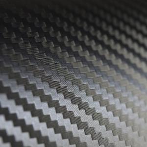 3Dカーボンブラック (CAST高品位3次曲面対応) 50cm幅×長さ1m単切売 エア抜き糊 ラッピングフィルム ラッピングシート braintec 02