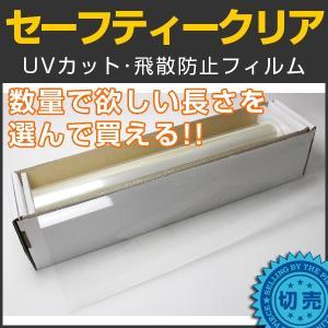カーフィルム 飛散防止フィルム セーフティークリア 50cm幅×長さ1m単位切売|braintec