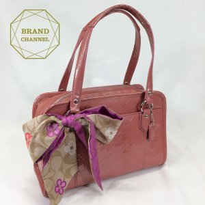 【ABランク】 COACH コーチ ピンクリボン bag ハンドバッグ brand-channel