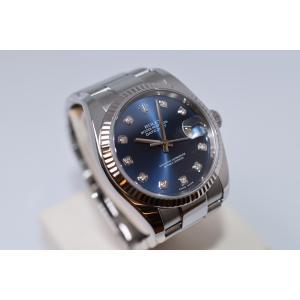 新品仕上げ済み ROLEX ロレックス  デイトジャスト 116234G ブルー/ダイヤ D番 新バックル 自動巻き メンズ 腕時計|brand-forest-shop2