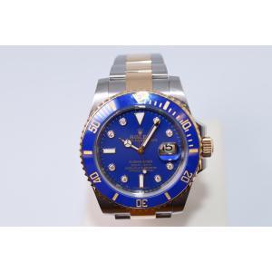 新品仕上げ済 ROLEX ロレックス 116613GLB サブマリーナ コンビ V番 ブルー/ダイヤ 自動巻き メンズ 腕時計|brand-forest-shop2