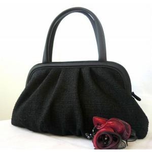 日本製 岩佐 米沢織 ツイードソフトトートバッグ|brand-formal-store