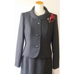 LAPINE FORMAL(ラピーヌ フォーマル) ウール素材 変形ショールカラースーツ|brand-formal-store