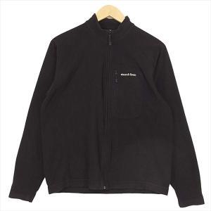 モンベル MONT-BELL 1104981 シャミース 無地 ロゴ フリース ジャケット ブラック系 M 【中古】 brand-life