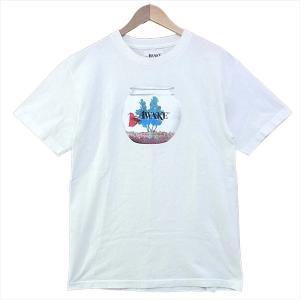 AWAKE プリント Tシャツ ホワイト系 M 【中古】