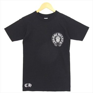 クロムハーツ CHROME HEARTS 星条旗 アメリカ国旗 V53 Flag ポケット 半袖Tシャツ Tシャツ ブラック系 S 【中古】|brand-life