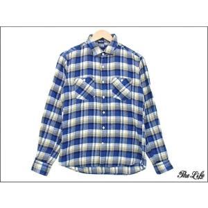 中古 nano universeナノユニバースシルク混チェックシャツS|brand-life