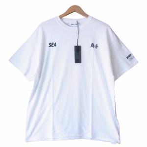 ウィンダンシー WIND AND SEA WDS-CISHA-03 × チイシャ CHI-I-SHA T-SHIRT Tシャツ カットソー ホワイト系 XL【新古品】【未使用】【中古】 brand-life
