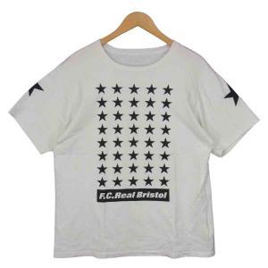 F.C.R.B. エフシーアールビー 19SS FCRB-192071 42 STARS TEE スター 丸首 半袖 Tシャツ ホワイト系 L【中古】|brand-life