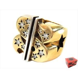 【中古】TENDERLOIN テンダーロイン T-$ RING ( GOLD / STONE ) ダラー リング K8 ダイヤ ゴールド シルバー 19号|brand-life