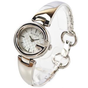GUCCI 時計 中古 レディース グッチ 腕時計 25mm ホワイトシェル/シルバー YA1345...