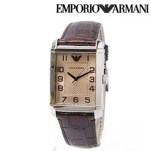 EMPORIO ARMANI エンポリオ アルマーニ メンズ腕時計 クラッシック(Classic) ダークブラウン AR0489 新品 送料無料|brand-pit