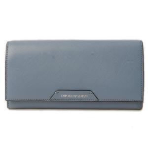 エンポリオアルマーニ 財布 EMPORIO ARMANI 長財布 型押しレザー ライトブルー Y3H008 YAM8N 80250|brand-pit
