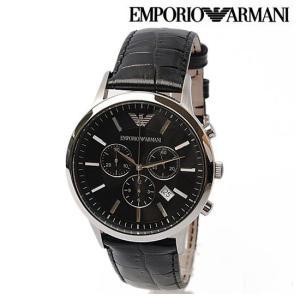 EMPORIO ARMANI エンポリオ アルマーニ メンズ腕時計 クラシック(Classic) クノログラフ ブラック AR2447 新品 送料無料|brand-pit