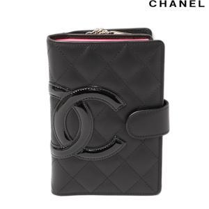 シャネル 折財布 CHANEL ファスナー付財布 A50080 カンボン ライン ブラック/ブラック brand-pit
