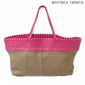 ボッテガヴェネタ ショルダーバッグ BOTTEGA VENETA  イントレチャート レザー ベージュ/ピンク brand-pit