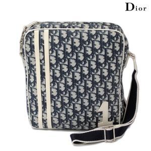 クリスチャン ディオール Christian Dior ショルダーバッグ トロッター ロゴ/ブルー|brand-pit