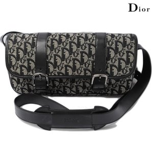 クリスチャンディオール ショルダーバッグ Christian Dior 斜め掛け ロゴ/キャンバス ブラック|brand-pit