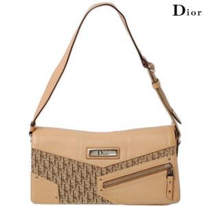 クリスチャン・ディオール Christian Dior ショルダーバッグ ストリートシック ベージュ ジャガード/レザー|brand-pit