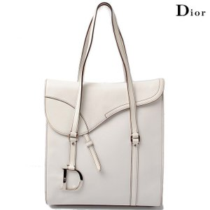 クリスチャン ディオール Christian Dior ショルダーバッグ/サドルバッグ レザー ホワイト|brand-pit
