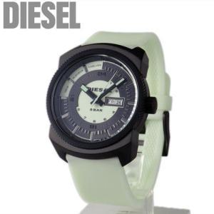 ディーゼル DIESEL メンズ 腕時計 蓄光 ラバーベルト ブラック×ホワイト DZ1346【新品】【送料無料】|brand-pit