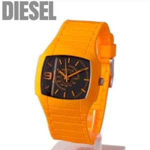 ディーゼル DIESEL ユニセックス(男女兼用) 腕時計 ラバーベルト オレンジ×ブラック DZ1354【新品】【送料無料】|brand-pit
