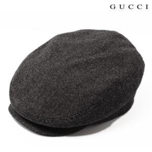 グッチ ハンチング・ベレー帽 GUCCI  メンズライン ウール グレー 256481 F890N 1165|brand-pit