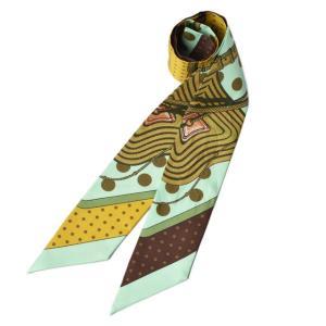 エルメス ツイリー スカーフ  HERMES シルクツイル レイクグリーン/オリーブ