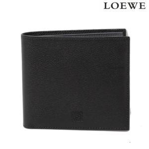 ロエベ 財布 メンズ LOEWE 折財布 ボックスカーフ ブラック/グレー 103.30.501|brand-pit