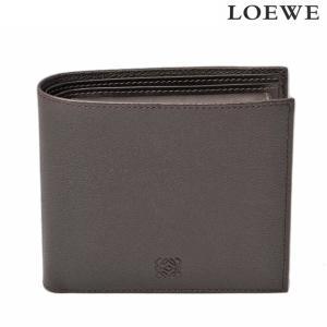 ロエベ 財布 メンズ LOEWE 折財布 ボックスカーフ ダークブラウン 103.30.501|brand-pit