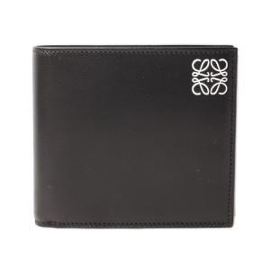 ロエベ 財布 メンズ LOEWE 折財布/コインケース付 カーフスキン BLACK/ブラック 109.54.501|brand-pit